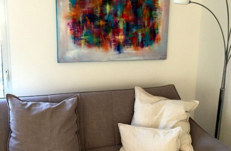 ציור אווירה בבית בסביון